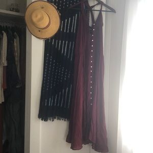 Free People Kimmi Slip Button Down Maxi Dress